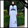 KJ-LD119 white chiffon design embroidery abaya wholesale for ladies african caftan