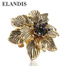 ELANDIS 2015 style zinc alloy fashion ring, flower shape ring, beautiful gold rings designs