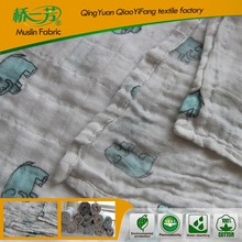 100% cotton baby blanket in sided printing in alibaba china