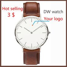 2015 new fashion custom Daniel Wellington women and men watch , cheap DW watch design, DW leather watch