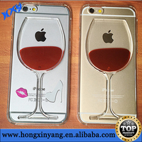 Red Wine Glass Design Soft Clear TPU Mobile Phone Case For iPhone 6 China Manufacturer