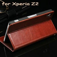 Good quality cover phone case for Sony Z2 providing full protection and card slots