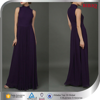 New Pattern Muslim Dresses High Neck Maxi Pleated Evening Dresses UK