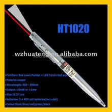 3 in 1 Cooper Red Laser Pointer Led Pen