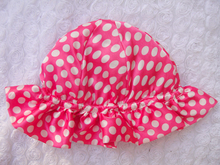 China factory wholesale baby cap with polka dot for baby girl
