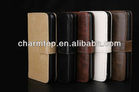 PU Leather Wallet Case For iPhone 5C