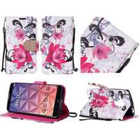Heat press cell phone case wallet cover for alcatel one touch fierce xl 5054N