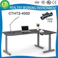 2015 electric height adjustable long bar table