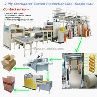 2 ply corrugated cardboard production line/single face corrugated paperboard production/carton packing machinery CE Certificate