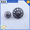 hollow design metal sewing button sewing button with loop