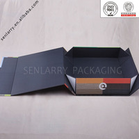 Folding paper box for gift and packaging custom cardboard package design box