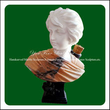 Young Handsome Man Marble Roman Head Bust Statue