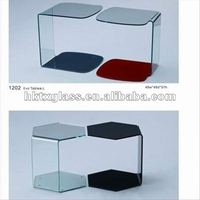 Safety glass german coffee tables