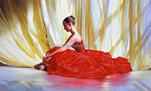 Ballerina oil painting in beautiful red dress high quality handicrafts
