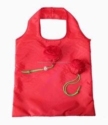 Flower rose design eco wholesale reusable shopping bags 6