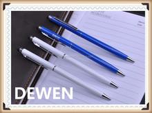 logo pen thin metal pen, high value metal twist pen. top quality ballpoint pen