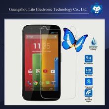 9H hardness HD Clear Mobile Phone LCD Display Tempered glass screen protector for motorola moto g