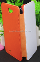 Popular cheap sublimation flip cover phone case for SamSung Note2