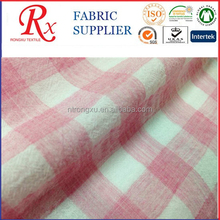 New design 100% cotton top dyed crepe fabric