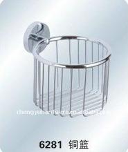 brass bathroom accessories-ZP-6281 brass basket