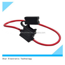 10 AWG red wire plastic waterproof automotive car inline fuse holder with safeguard cover