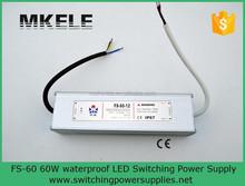 FS-60-12 single power supply ac dc 60w waterproof ip67 led 12v 5a 60w switching power supply