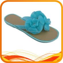 blue flower flat flip flop