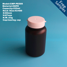 the latest 225cc PE plastic medical pills bottle, Health care plastic bottle with tearing cap, plastic medicine bottle