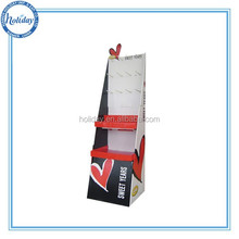 Corrugated pegboard display hook for chocolate , metal hook display stands for candy