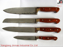 damascus Handmade Kitchen Meat Knife With Pakka Handle