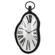 Wholesale Roman Numeral Retro Timepiece Melting Distorted Wall Clock