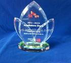 pirâmide de vidro placa de cristal troféu de cristal artesanal