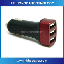 New 3USB Output Car Charger 4.1A Super Amp for Mobile Phone
