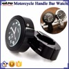 BJ-HBW-001 Universal Black CNC Handle Bar Motorcycle Watch Clock