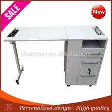 elegant graceful wood less expensive nail desk,salon nail technician tables for sale