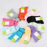 bamboo fiber socks women, young girl tube socks,