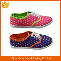 High cut fashion canvas shoes for girls