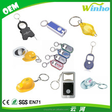 Winho Promotional custom plastic LED keychain