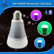 Smart phone control directly 9W RGBW Mi.light led bulb bluetooth with warm white to cool white adjustable