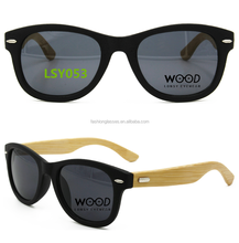 100% wood bamboo temple uv400 polarized sunglasses with oem logo