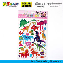 Free Resuable Sponge Animal Puffy Sticker for Kids