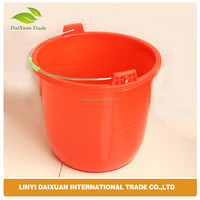 Plastic nail bucket with metal handle