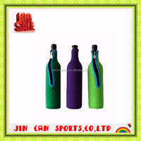 Made in CHINA red wine tote with printing logo