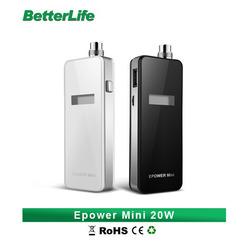 Betterlife bulk e cigarette purchase 2200mah box mod 20W Epower mini battery china wholesale e cigarette