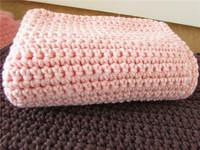 Newborn Photo Props Handmade Knit Cotton Yarn super soft Baby Blanket