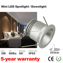 Hot sale 1w 3W 1W downlight light 30D led downlight with 120mm cut out 1W led ceiling light 80Ra 100LM/W 15mm 25mm