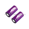 Purple cylindrical lithium ion battery 18350 efest battery efest imr 18350 battery 700mah 10.5a with flat top
