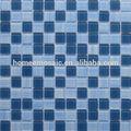 Piscina de azulejos para venda, azul e branco mix telha de vidro para a piscina ou a piscina de fronteira
