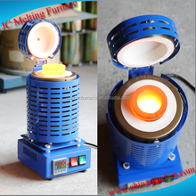 Hot sale mini potable 1kg,2kg,3kg,4kg electric gold melting furnace jewelry making machine tools