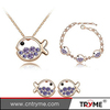Jewelry Set With Austrian Crystal Necklace Pendant/Earring Set Crystal Jewelry